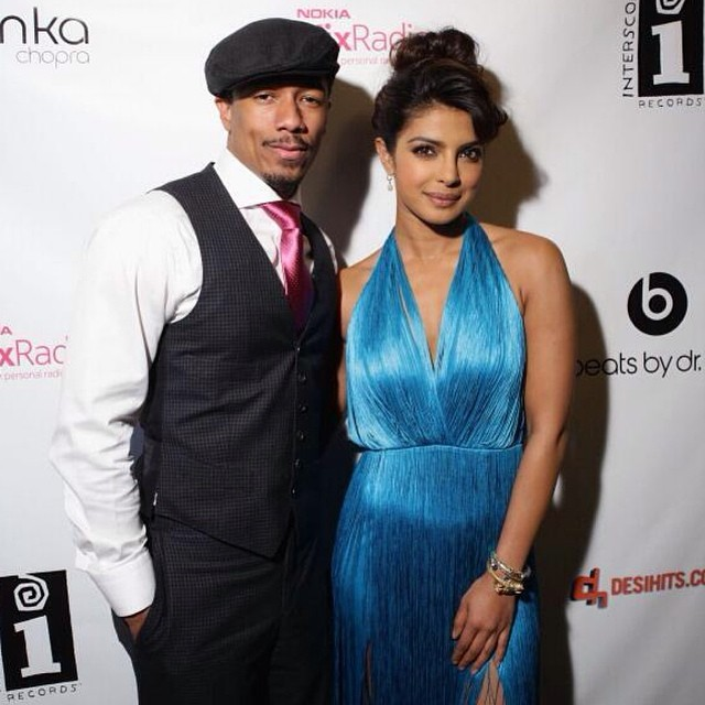 The gorgeous @priyankachopra and @NickCannon #NickCannon during the launch of her latest single #ICantMakeYouLoveMe, at the famous #TribecaGrand. What are your thoughts on this new single? #PriyankaChopra #singerPriyankaChopra #actressPriyankaChopra #SingerTurnedActressPriyankaChopra #bollywood #BollywoodActress #InMyCity #ExoticPitBull #InterscopeRecorda #BeatsByDrDre