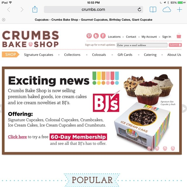 The @crumbsbakeshop website loads. Why are people saying it doesn't after the news of them closing down was released?