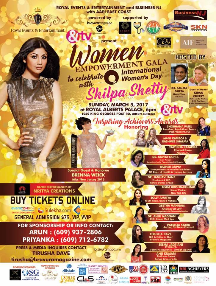 Women's Empowerment Gala with Bollywood Superstar Shilpa Shetty